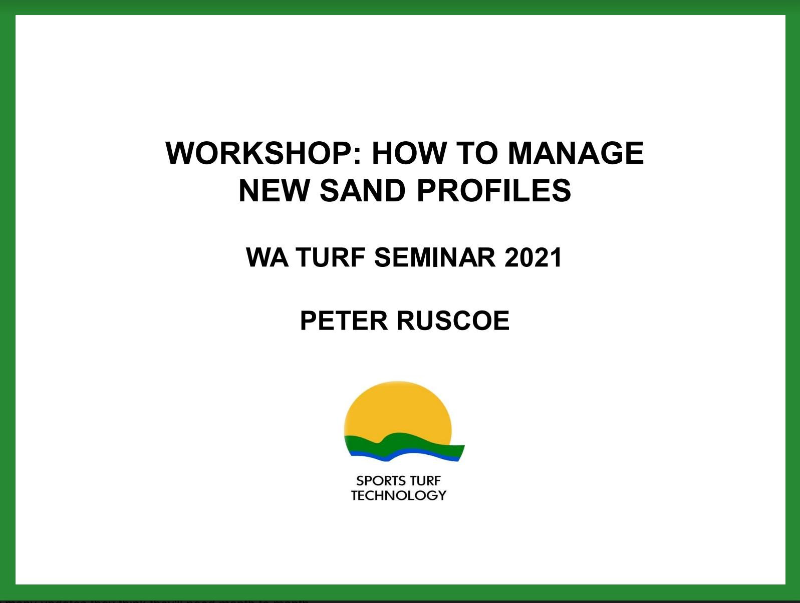 Seminar and Workshop Presentations